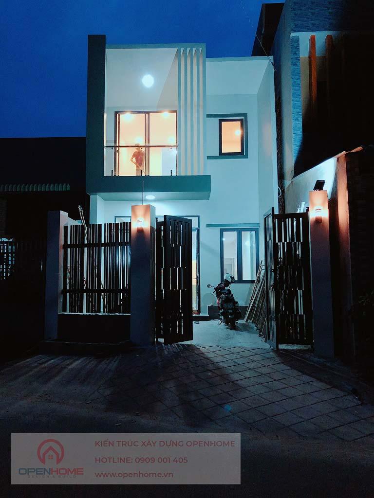hình thực tế nhà phố 2 tầng Thủ Dầu Một